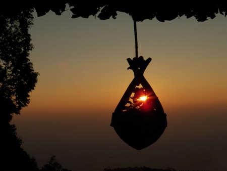 sunup: sunrise background Stock Photo