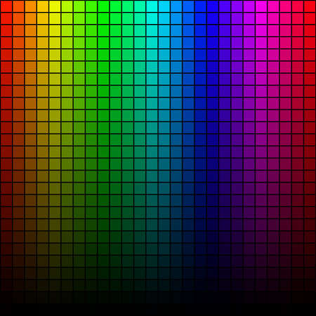 abstract square pixel mosaic , spectrum tone