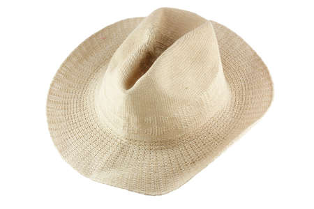 boater: straw hat Stock Photo