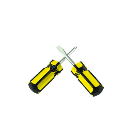 screwdrivers on white background photo