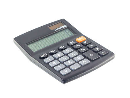 Calculator on white Background photo