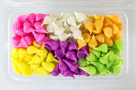 Colorful Thai desserts photo