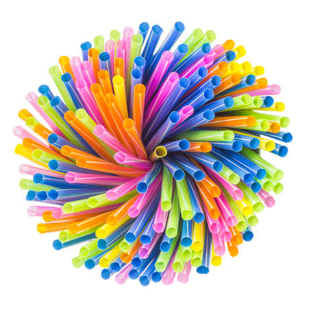 colorful straws background photo