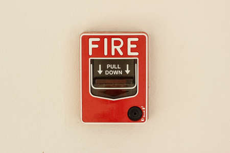 fire alarm control panel on wall photo
