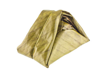 thailand culture: Food package made by banana leaf, Northern Thailand culture