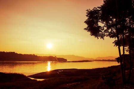 khong river: Sunrise at Mekong River , Chiangrai Thailand