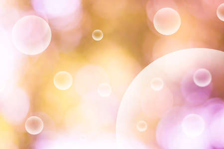 vague: Abstract bubbles on blur image Stock Photo