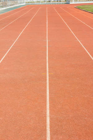 athletics track: Athletics track in stadium Stock Photo