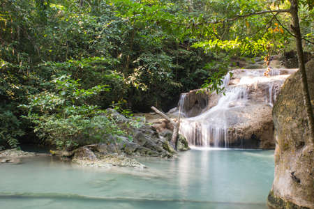 erawan: Erawan Waterfall at Erawan National Park in Thailand
