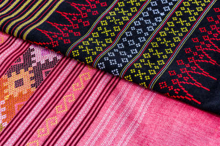 Thai fabric, fabric texture background