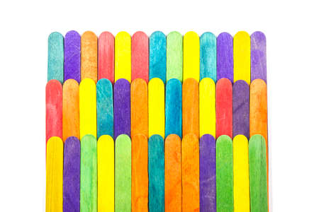popsicle: Wooden Popsicle Sticks, Colorful Ice Cream Sticks.