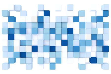 Fondo abstracto de cubos. Representación 3D.