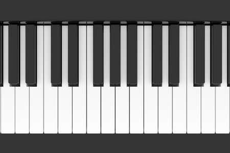 Piano keyboard. 3D rendering.