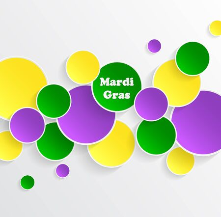 new orleans: Mardi Gras carnival. EPS10. Bright purple, green and yellow circle. Festival New Orleans. Fat Tuesday. Colorful ethnic Indian tricolor. Round stickers for websites, cards, buttons. Illustration
