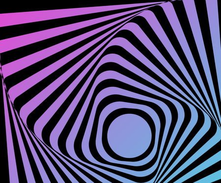 Optical distorted illusion pattern design.