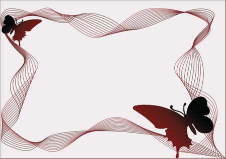 Butterfly On The Frame made in Illustartor (eps8) Stock Vector - 903028