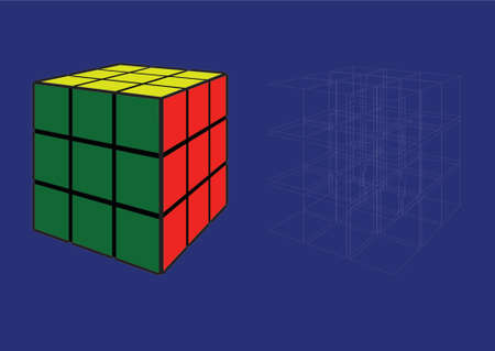 Puzzle Cube made in Illustrartor (eps8)