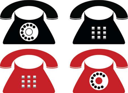 Telephone made in Illustartor (eps8) Vektoros illusztráció