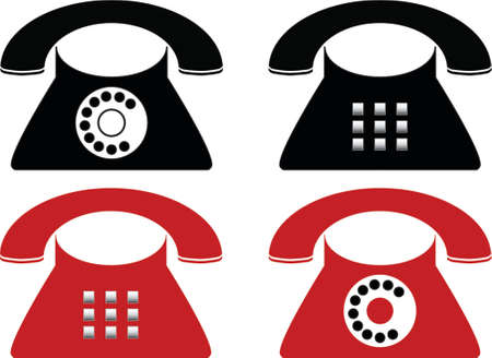 Telephone made in Illustartor (eps8)