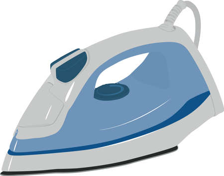 Modern electric iron on a white background   made in Abode Illustrator 8  eps  Vector