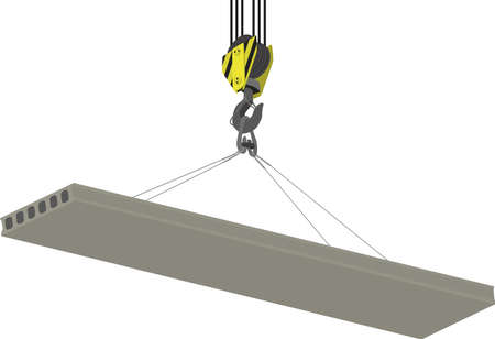 hoist: Crane Hook and hollow plate of overlapping isolated on a white background