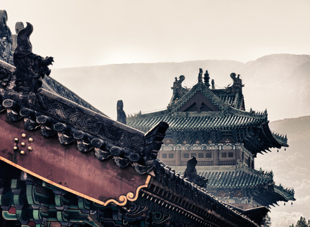 Shaolin temple, which where the Shaolin kung Fu were originated, Henan province, China. Editorial