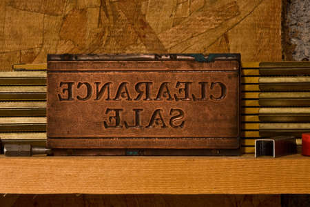 Photo of a wooden stamp for marking items  写真素材