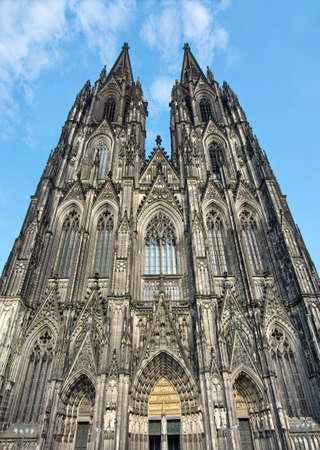 dom: Front of cologne cathedral, Germany Stock Photo