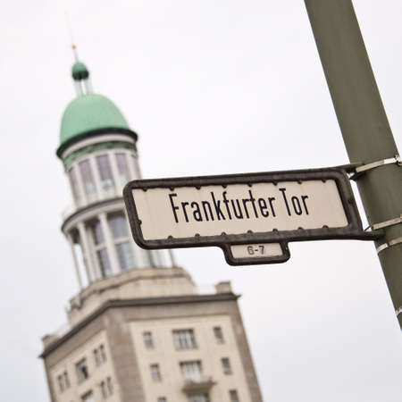 Frankfurter tor (Frankfurt gate), Berlin, Germany