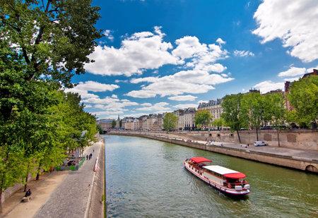 ile de france: The river Seine,Paris, France