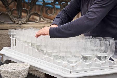 Musical glasses or glass harp