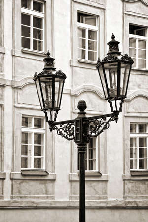 lampposts: City light in Prague, Czech republic