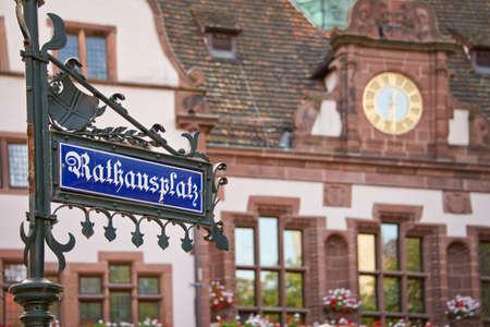 town hall square: Rathausplatz (Town hall square), Freiburg im Breisgau, Germany