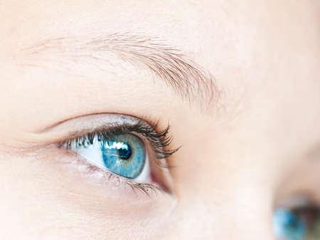 close uo: Close up on a girl blue eye