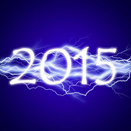 lightening: 2015, lightening effect Stock Photo