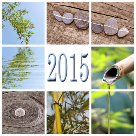 2015, zen bamboo square collage photo