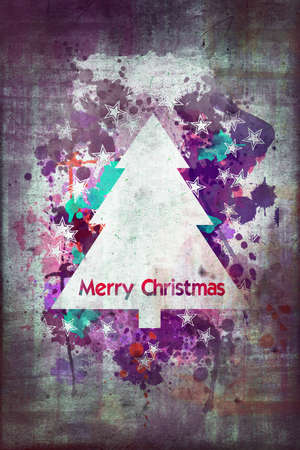 christmas watercolor: Merry Christmas watercolor card