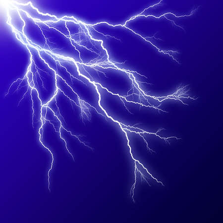 bolts: Lightening effect in blue square