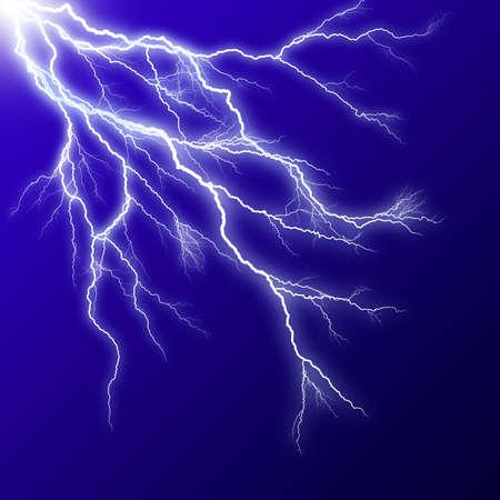 lightening: Lightening effect in blue square