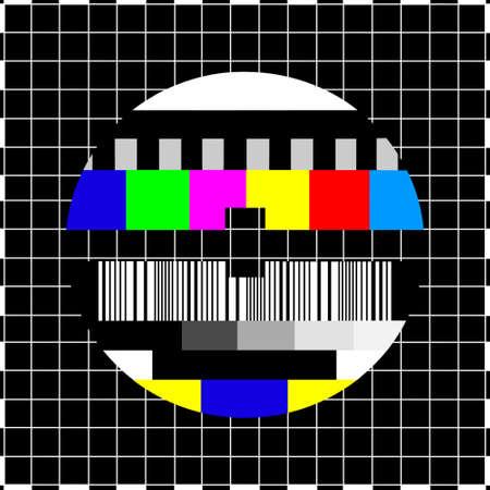 Pantalla del televisor coloful de la vendimia en caso de ausencia de señal