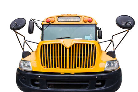 schoolbus: American schoolbus isolated on white background