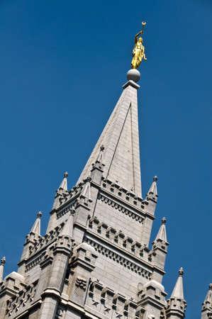 lds: Sat Lake City Temple on Temple square, USA