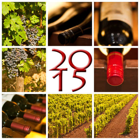 2015 red wine square photos collage photo