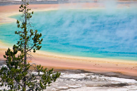 Grand Prismatic spring, Yellowstone National Park, USA photo