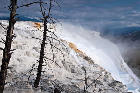 hot springs: Mammoth hot springs in Yellowstone National Park, USA
