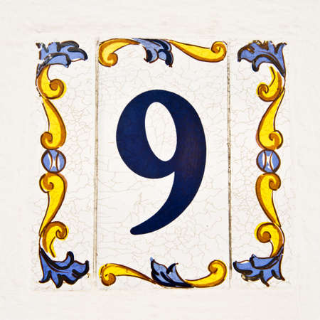 Ceramic Tiles Street Numbers Collage Stock Photo Picture And - Ceramic street numbers