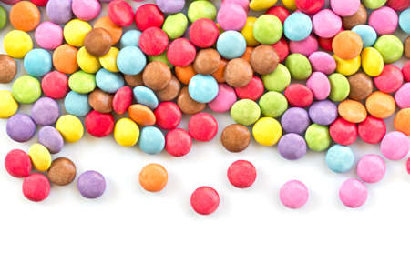 Colorful candies  isolated on white background Фото со стока