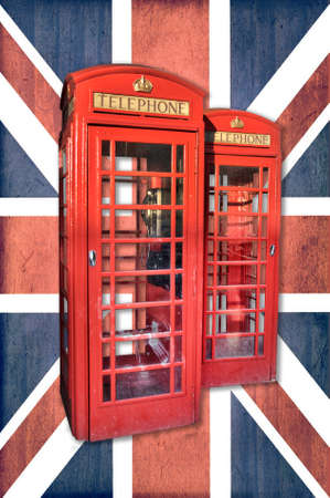 phonebooth: London phonebooth, Union Jack background