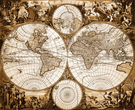 Vintage world map Editorial