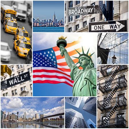 アメリカ合衆国ニューヨーク市コラージュ 写真素材 - 33436261